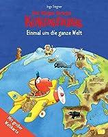 Der kleine Drache Kokosnuss - Einmal um die ganze Welt: Kinderatlas mit grosser Weltkarte