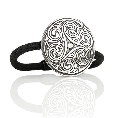Celtic Crystal Spiral - Haargummi aus England - Kristall & keltische Muster