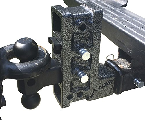 """2"""" Drop Pintle Hitch Combo by GENY #324,2""""Solid Shank Drop Hitch 10,000 lb,Pintle,Adjustable Hitch, Dual Ball Truck Receiver Hitch,Drop/Raise 7.5"""""""