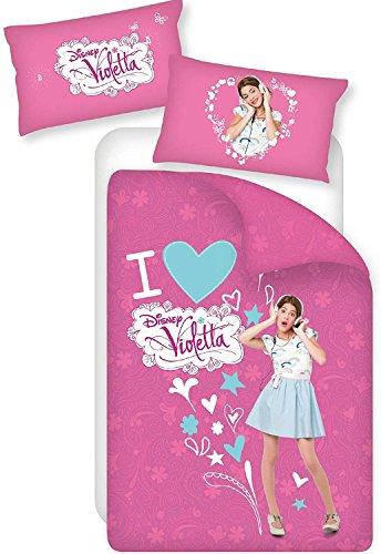 Caleffi Parure Copripiumone Singolo Disney violetta Unica in Cotone - 47995