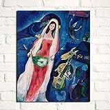 YuanMinglu Stampa di Nozze su Tela Soggiorno Decorazione della casa Arte Moderna della Parete Pittura a Olio Poster Pittura Frameless 45x56cm
