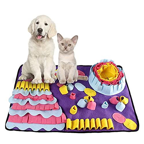 Muxing Alfombra para olfatear para perros, lavable, plegable, con olores, antideslizante, juguete para perros, juguetes inteligentes, juguetes para perros, gatos y mascotas (70 x 50 cm)