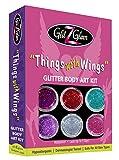 Kit de Tatuajes de Brillantina - Things with Wings (Cosas con alas) con 6...
