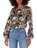 House of Harlow 1960 Women's LIA TOP, Rose Gold Floral, Large