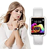 iQuark Smart Watch for Women, Waterproof Fitness Tracker, Color Touchscreen Fashion Smartwatch with Heart Rate and Sleep Monitor (White)