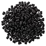 1000 Pieces Cord Locks Silicone Toggles Elastic Cord Adjuster Non Slip Stopper Adjustable Lanyard Buckle Barrel Connectors for Drawstrings (Black)