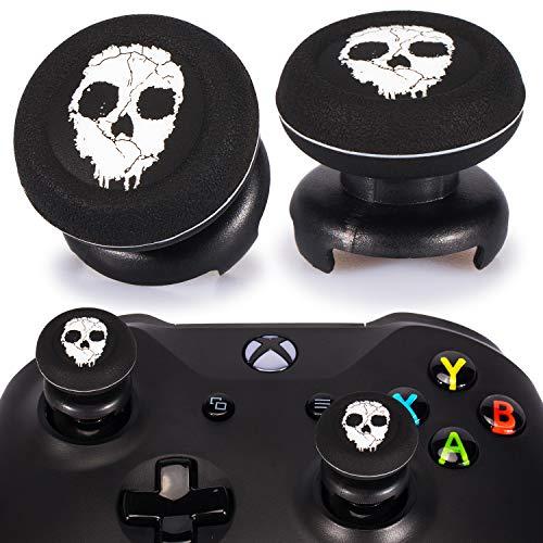 Playrealm FPS Thumbstick Extender & Drucken Gummi Silikon Griffabdeckung Thumb Grip Aufsätze 2 Sätze für Xbox One(Geist)