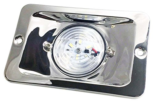 MARINE BOAT LED TRANSOM STERN LIGHT STAINLESS STEEL 304 SPLASHPROOF FLUSH MOUNT by TOTAL MARINE