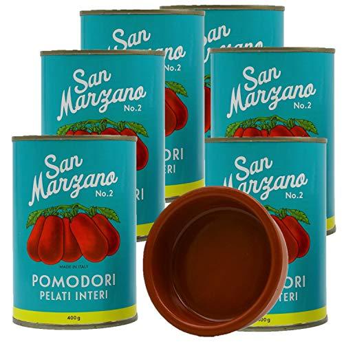 Pomodori pelati di San Marzano Vintage (6 x 400g) + 8cm Cazuela