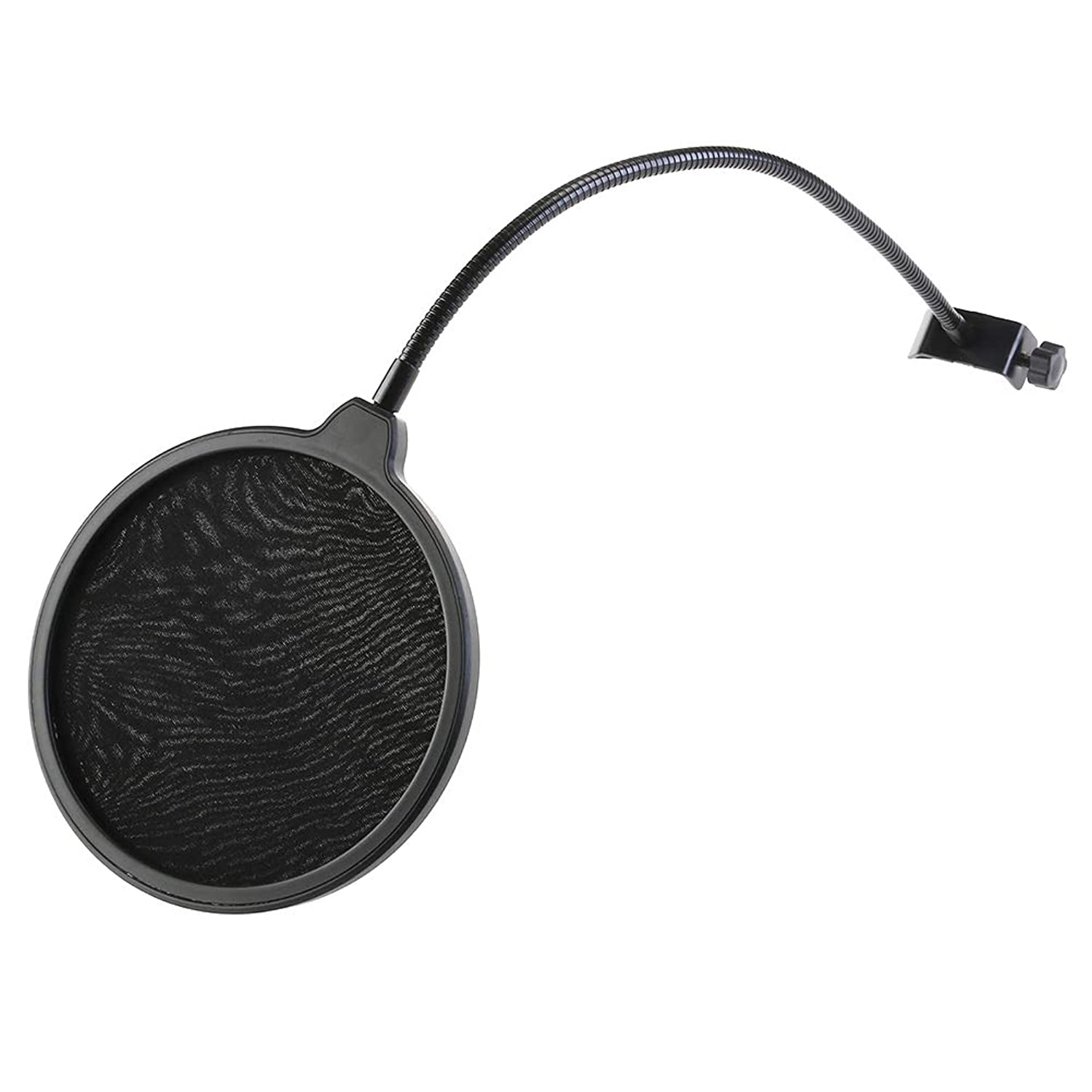 2PCS Double-Layer Microphone Wind Screen Filter Mask Shield with Flexible Holder (Black)