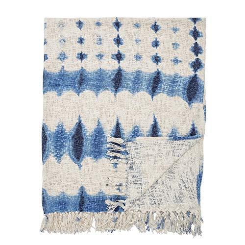 Bloomingville Plaid, bleu, coton