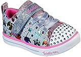 Skechers Kids Girls Sparkle Lite-Princessland Sneaker, Light Denim/Multi,9 Toddler