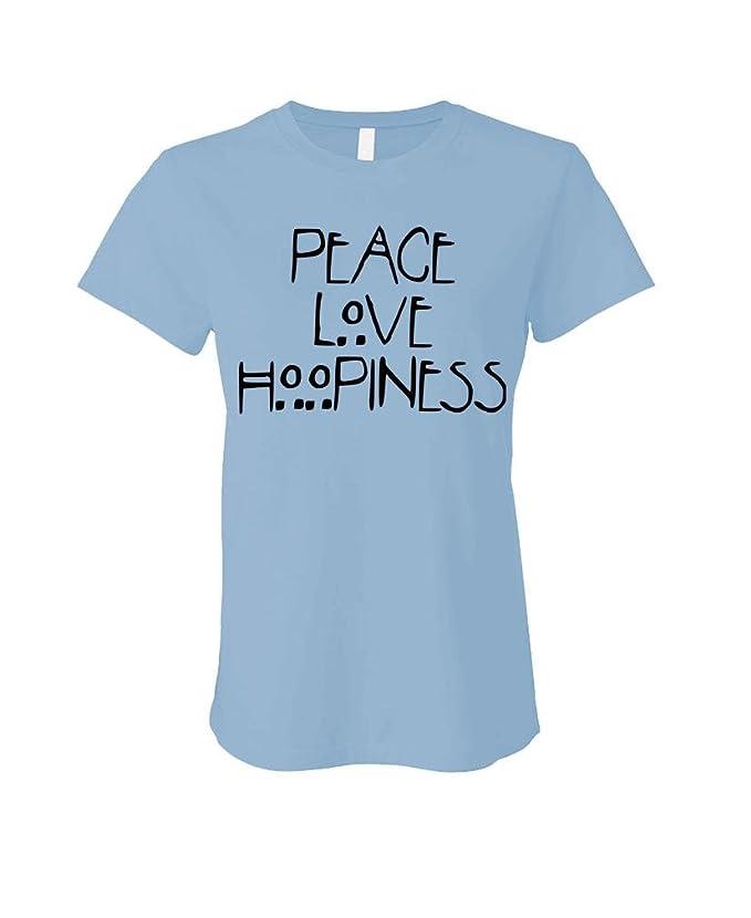 Peace Love HOOPINESS - Hoop Hula Dance Meme - Ladies Cotton T-Shirt