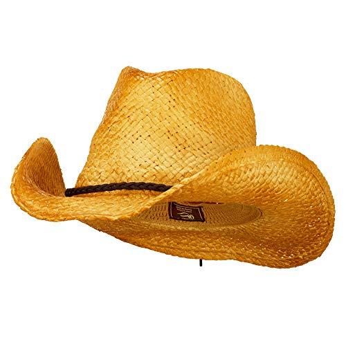 Outdoor Customizable Raffia Straw Cowboy Hat - Natural OSFM Beige