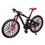 YEIBOBO ! Alloy Mini Downhill Mountain Bike Toy, Die-cast BMX Finger Bike Model for Collections (Black/Red)