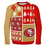 NFL San Francisco 49ers BUSY BLOCK Ugly Sweater, X-Large