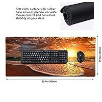 Sunrise 夕日 マウスパッド ゲーミングマウスパット デスクマット キーボードパッド 滑り止め 高級感 耐久性が良い デスクマットメ キーボード パッド おしゃれ ゲーム用(90cm*40cm)