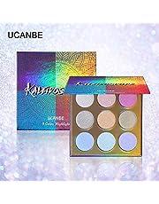 UCANBE paleta rozświetlaczy w 9 kolorach, do każdego typu skóry