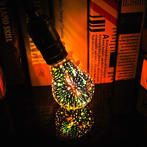 LED Fireworks Light Bulb, ST64 G95 E27 Screw Decorative Lights, 3D Fireworks Gypsophila Decorative Light Bulbs, 3D Edison Light Bulb