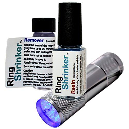 RingShrinker: Ring Size Adjuster, Ring Size Reducer, Ring Guard with UV Flashlight