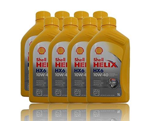 Shell Helix Ultra HX6 10W-40 8x1 liter motorolie