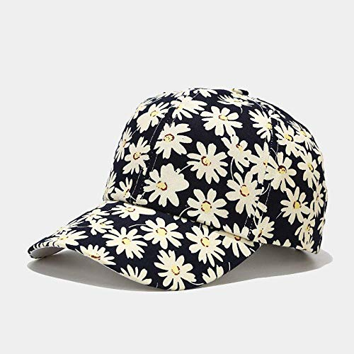 N / A Baseball Cap Mini Chrysantheme Bedruckte Baseballkappe Frauen Sonnenschutzhut im Frühjahr und Sommer