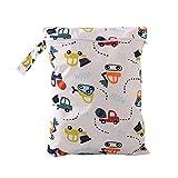 Bolsa de Pañales Reutilizable Domybest Bolsas de Pañales de Bebé Impresión de Personaje con Cremallera