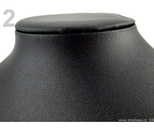 1pc Negro Busto Collar Joyería Pantalla 22x28cm Cuero