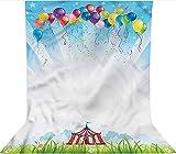 Fondo de fotografía de 1,8 x 2,7 m, globo transparente cielo decoraciones de viaje telón de fondo de tela de microfibra, pantalla plegable de alta densidad para cumpleaños, bodas, festivales temáticos