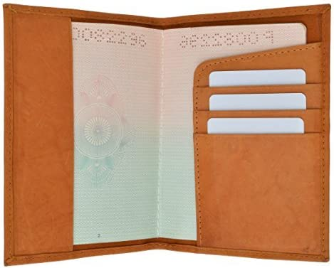 GENUINE LEATHER Max 84% OFF PASSPORT COVER Washington Mall HOLDER WALLET COLOR TRAVEL 7 CASE