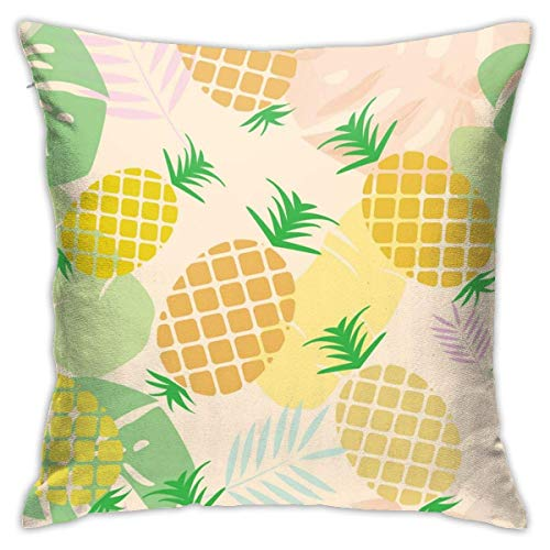 Hangdachang Throw Pillow Case 45cm x 45cm Pineapples Pillowcase,Square Throw Covers,Decorative Cushion for Sofa Couch Car