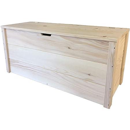 TOTAL WOOD 2012 Coffre Banc de Rangement en Bois enterieur Exterieur 150x40x45 cm également