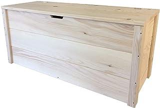 TOTAL WOOD 2012 Coffre Banc de Rangement en Bois enterieur Exterieur Jardin 70x40x40 cm également