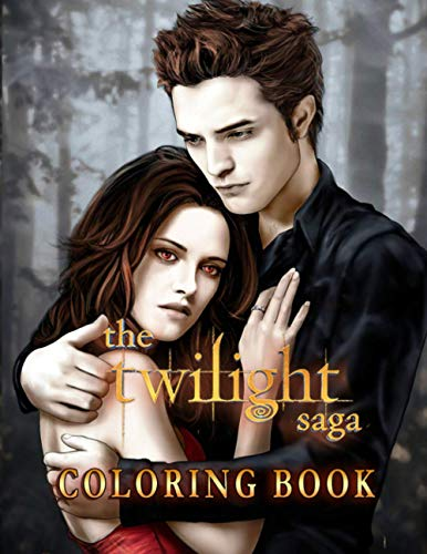 The Twilight Saga Coloring Book: Perfect Book For Fans Of Twilight Saga With Easy Coloring Pages In High-Quality| Great For Encouraging Creativity And Developing Imagination