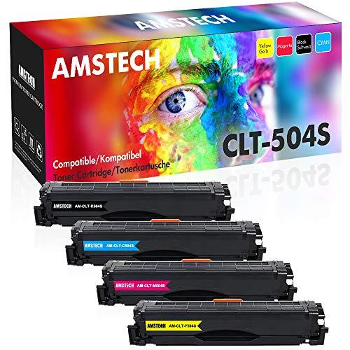 Amstech Kompatibel Toner Cartridge Replacement für CLT-P504C CLT-K504S CLT-504 CLT C504S M504S Y504S für Samsung Xpress C1860FW C1810W Toner Samsung C1860 Samsung CLX-4195FW CLX-4195FN CLX 4195