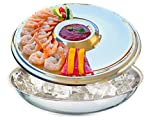 Superior quality aisi 304 Stainless Steel : Stands out among serving trays for the unique polished appearance and the superb durable material for your buffet table. Made in Europe. Large and Elegant Serving dip tray and bowl on ice to keep food chill...