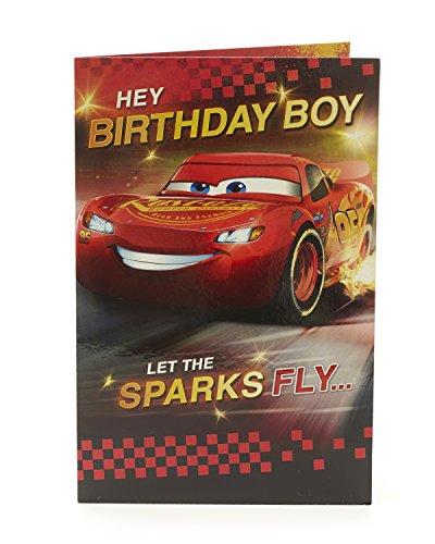 Kinder-Geburtstagskarte – Cars Lightning McQueen Geburtstagskarte, Geburtstagskarte für Jungen – Ideales Geschenk für Kinder – Disney