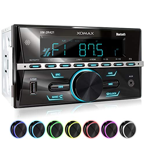 XOMAX XM-2R421 Car radio with Bluetooth I RDS I AM, FM I USB, AUX I 7...