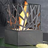 Gr8 Home Black Bio Ethanol Nest Fireplace Free Standing Indoor Outdoor Stainless Steel Metal Portable Camping Table Top Fire Burner Flame Heater