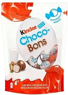 Original Kinder Milk & Hazelnut Choco-Bons Chocolate Pouch Imported From The UK England