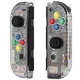 Myriann 任天堂 Nintendo Switch ニンテンドー カラー置換ケース 代わりケース 外殻 ついに登場! (ジョイコン-透明感) 新製品