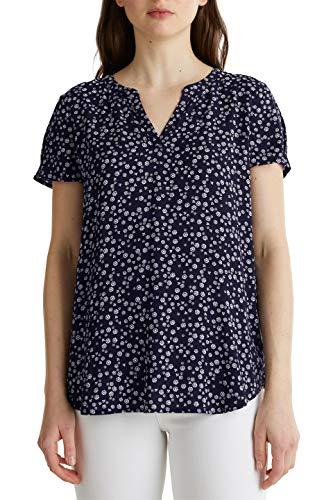Esprit Damen 040EE1F338 Bluse, 403/NAVY 4, 38
