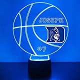 Mirror Magic Store Blue Devils (Duke) Basketball Sports Fan Lamp/Night Light - LED - Personalize for Free - Featuring Licensed Decal