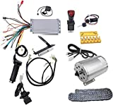 WPHMOTO 48V 1800W Brushless Electric Motor Controller Throttle Grip Pedal Wiring Harness Charger Plug Chain Ignition Key Kit for Go Kart Scooter E-Bike Motorized Bicycle ATV Mini Bike