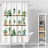 VODW Papageien-Duschvorhang, wasserfest, lebensechtes Tier, einzigartiges Design, Handzeichnungseffekt, Stoff, Duschvorhang, 177,8 cm, mit Haken 0016