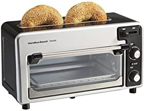 Hamilton Beach Toastation Oven with 2 Slice Toaster Combo, Ideal for Pizza, Chicken Nuggets, Fries and More, Black (22720)
