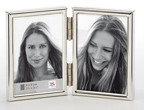 walther design WD269S Chloe Portraitrahmen 2x 6x9 cm, silber