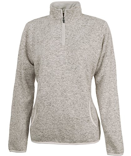 Charles River Apparel Women's Fleece Pullover, Oatmeal Heather, M