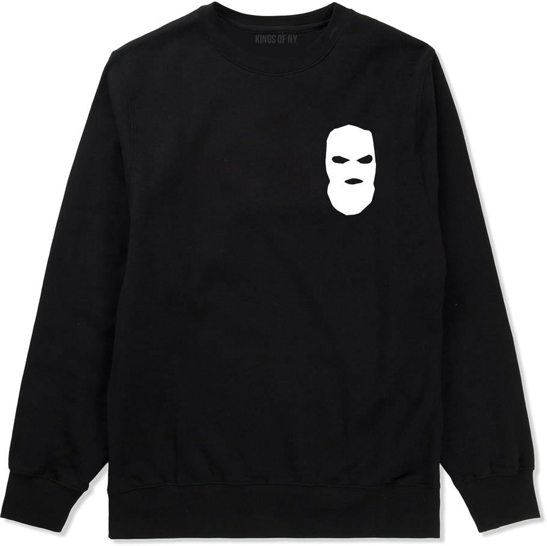 Kings Of NY Ski Mask Chest Logo New York Hood Crewneck Sweatshirt