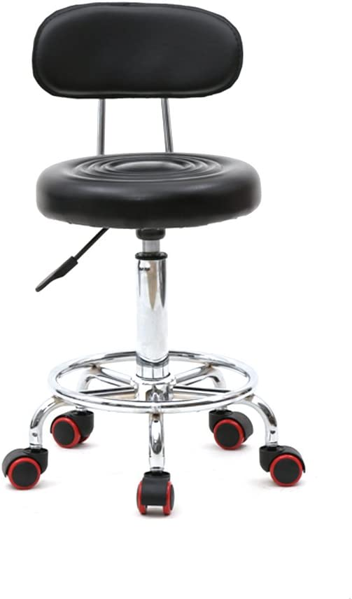 Round Rolling Very popular Swivel Stool Chair S Topics on TV Leather Height PU Adjustable